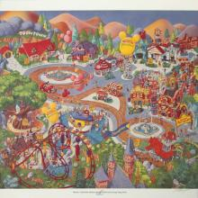 Disneyland Toontown Exclusive Print - ID: augboyer19219 Disneyana