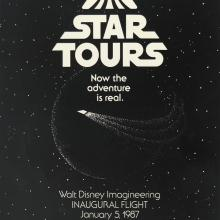 1987 Star Tours Inaugural Flight Imagineering Poster - ID: augdisneyland19046 Disneyana