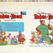 Robin Hood Record Sleeve Test Print - ID: augrobinhood19457 Walt Disney