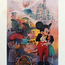 Tokyo Disneyland Charles Boyer Signed Limited Print - ID: janboyer19330 Disneyana
