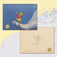How the Grinch Stole Christmas Production Cel & Drawing - ID: julygrinch19909 Chuck Jones
