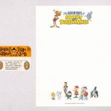 Rocky and Bullwinkle Vintage Stationary and Boris Fan Club Card - ID: octbullwinkle19411 Jay Ward