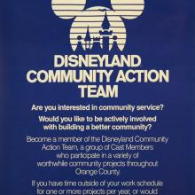 1985 Disneyland Community Action Team Poster - ID: octdisneyland19345 Disneyana