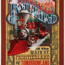 Disneyland Railroad Souvenir Poster - ID: octdisneyland19366 Disneyana