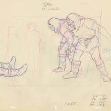 Huck Finn Layout Drawing - ID: HBD2huck01 Hanna Barbera