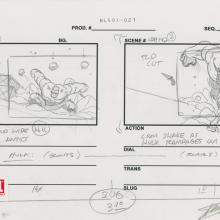 Ultimate Avengers Signed Storyboard Drawing - ID: MLG100173 Marvel