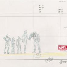 Ultimate Avengers Signed Layout Drawing - ID: MLG100201 Marvel