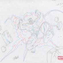 Ultimate Avengers Signed Production Drawing - ID: MLG100217 Marvel