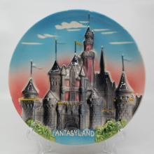 Disneyland Fantasyland 3-D Ceramic Plate - ID: aprdisneyland20171 Disneyana