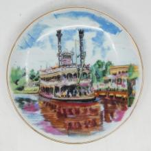 Disneyland Mark Twain Riverboat Decorative Mini Plate - ID: aprdisneyland20317 Disneyana