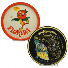 Walt Disney World Souvenir Metal Serving Trays - ID: aprdisneyland20322 Disneyana