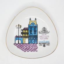 Disneyland Souvenir New Orleans Square Plate- ID: aprdisneyland20351 Disneyana