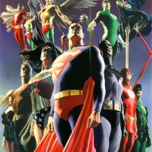 JLA: Secret Origins Signed Giclee on Canvas Print - ID: aprrossAR0004C Alex Ross