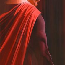 Shadows: Superman Signed Giclee on Paper Print - ID: aprrossAR0005C Alex Ross
