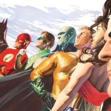 Liberty and Justice: JLA Mini Canvas Print - ID: aprrossAR0008MC Alex Ross