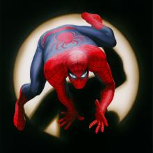 Marvels: Spider-Man Signed Giclee on Canvas Print - ID: aprrossAR0011C Alex Ross