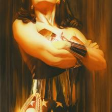 Shadows: Wonder Woman Signed Giclee on Paper Print - ID: aprrossAR0014C Alex Ross