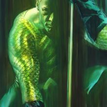 Shadows: Aquaman Signed Giclee on Paper Print - ID: aprrossAR0015C Alex Ross