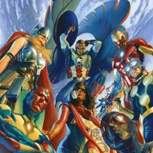 All New All Different Avengers #1 Mini Canvas Print - ID: aprrossAR0017MC Alex Ross