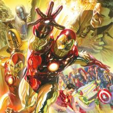 Superior Iron Man Signed Giclee on Canvas Print - ID: aprrossAR0022C Alex Ross