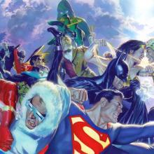 CLASH! Signed Giclee on Canvas Print - ID: aprrossAR0025C Alex Ross