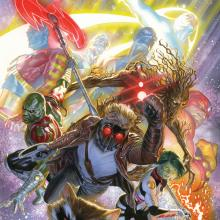 Guardians of the Galaxy Signed Giclee on Canvas Print - ID: aprrossAR0036C Alex Ross