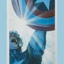 Captain America Triumphant Signed Giclee on Paper Print - ID: aprrossAR0041P Alex Ross