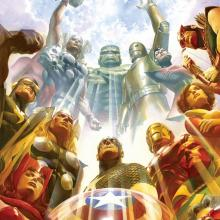 Earth's Mightiest Heroes Signed Giclee on Canvas Print - ID: aprrossAR0055C Alex Ross