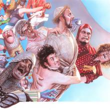 Monty Python Signed Giclee on Canvas Print - ID: aprrossAR0066C Alex Ross
