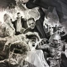 Universal Monsters: Monster Mash Signed Giclee on Canvas Print - ID: aprrossAR0074C Alex Ross