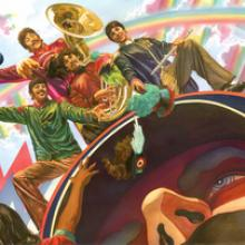 We All Live in a Yellow Submarine Signed Giclee on Canvas Print - ID: aprrossAR0075C Alex Ross