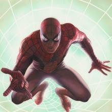 Spider-Man Rockomic Signed Lithograph Print - ID: aprrossAR0078DL Alex Ross