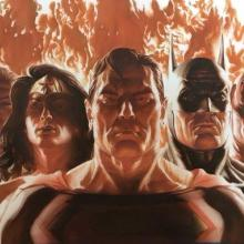 JLA Alliance Signed Giclee on Canvas Print - ID: aprrossAR0088C Alex Ross