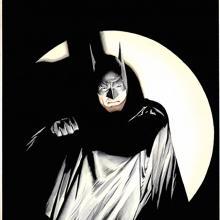 The Batman Giclee Mini Canvas Print - ID: aprrossAR0094MC Alex Ross
