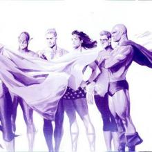 Origins: JLA Lithograph Print - ID: aprrossAR0138ML Alex Ross