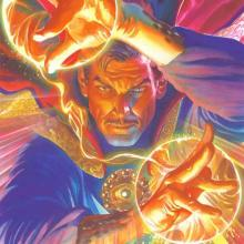 Marvelocity: Dr. Strange Signed Giclee on Canvas Print - ID: aprrossAR0141C Alex Ross