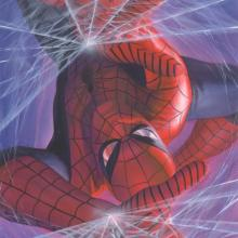 Marvelocity: Spider-Man Signed Giclee on Canvas Print - ID: aprrossAR0142C Alex Ross