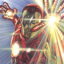 Marvelocity: Iron Man Giclee Signed Giclee on Canvas Print - ID: aprrossAR0144C Alex Ross