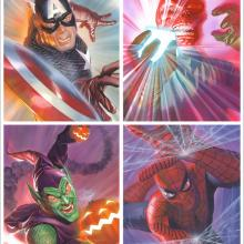 Heroes & Foes Signed Lithograph Print - ID: aprrossAR0146DL Alex Ross