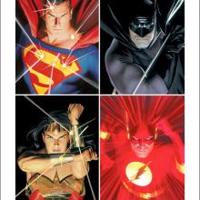 League Signed Lithograph Print - ID: aprrossAR0147DL Alex Ross