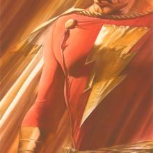 Shadows: SHAZAM! Signed Giclee on Canvas Print - ID: aprrossAR0152C Alex Ross