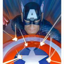 Visions: Captain America Lithograph Print - ID: aprrossAR0172ML Alex Ross