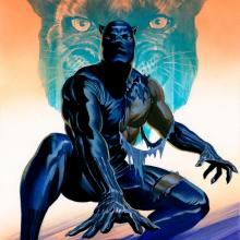 Black Panther Signed Giclee on Paper Print - ID: aprrossAR0190P Alex Ross