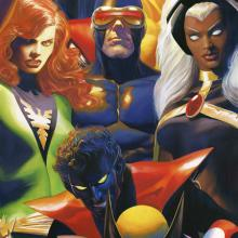 The X-Men Signed Lithograph Print - ID: aprrossAR0203DL Alex Ross