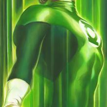 Shadows Green Lantern Signed Giclee Canvas Print - ID: aprrossAR0222C Alex Ross
