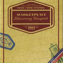EPCOT International Marketplace Discovery Passport - ID: augdismenu20005 Disneyana