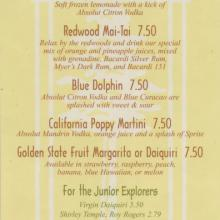 Redwood Pool and White Water Snacks Menu - ID: augdismenu20008 Disneyana