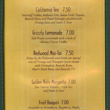 Redwood Pool and White Water Snacks Menu - ID: augdismenu20009 Disneyana