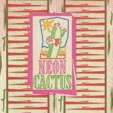 Neon Cactus Menu - ID: augdismenu20036 Disneyana