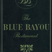 The Blue Bayou Test Print Menu - ID: augdismenu20043 Disneyana